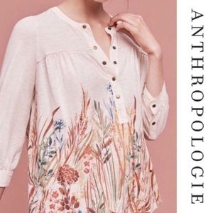 Postmark Long Sleeve Floral Snap Front Shirt Med